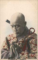 Buddhist Priest - Japan? Postcard