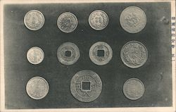 Old coins on display