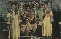 The empress dowager & court ladies Postcard