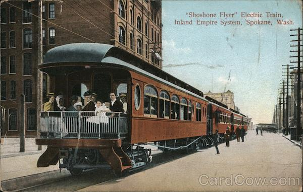 Shoshone Flyer Electric Train, Inland Empire System Spokane Washington