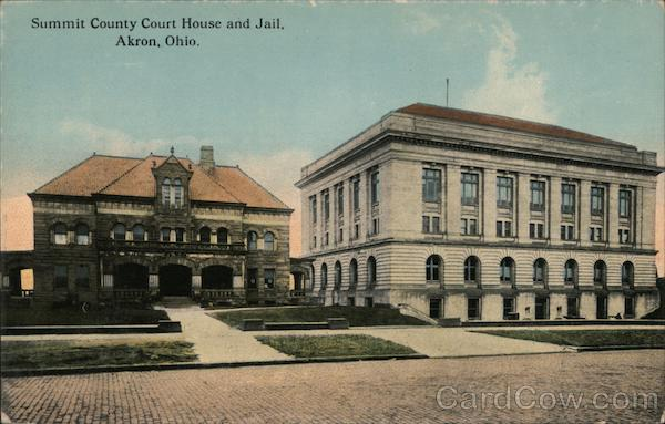 Summit County Court House and Jail Akron Ohio