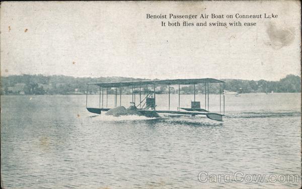 Benoist Passenger Air Boat on Conneaut Lake Pennsylvania