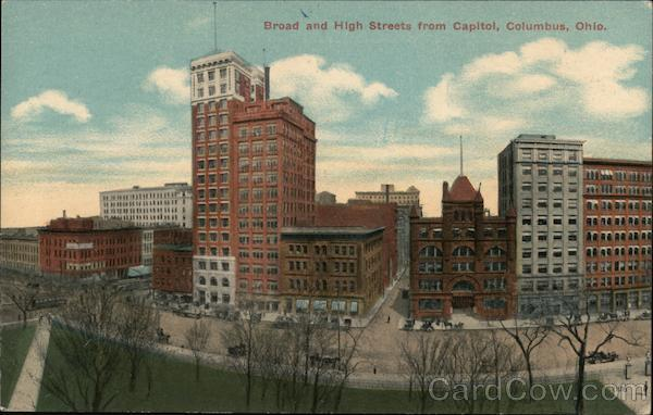 Broad and High Streets from Capitol Columbus Ohio
