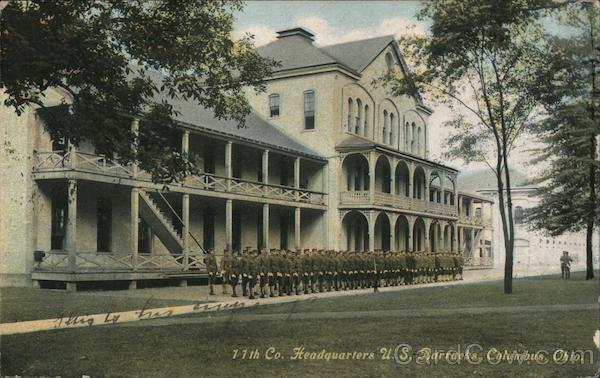 11th Co. Headquarters US Barracks Columbus Ohio