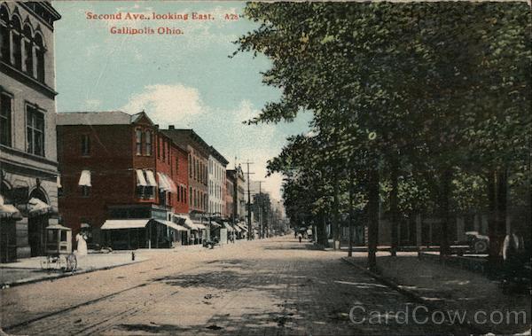 Second Avenue Looking East Gallipolis Ohio