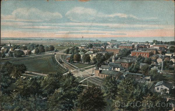 Birdseye View Port Clinton Ohio