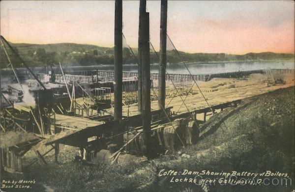 Coffee Dam Showing Battery of Boilers, Lock 26 Gallipolis Ohio