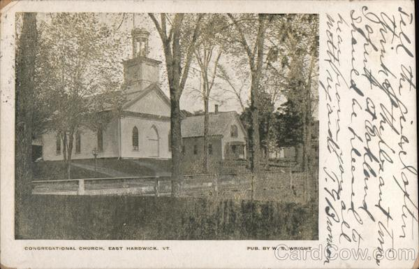Congregational Church East Hardwick Vermont