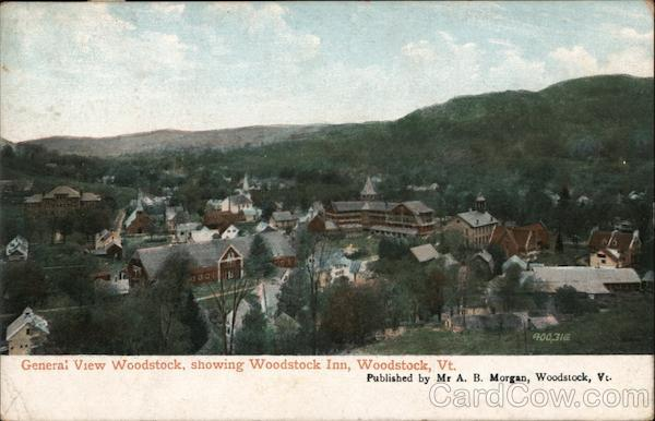 General View Woodstock, Showing Woodstock Inn Vermont