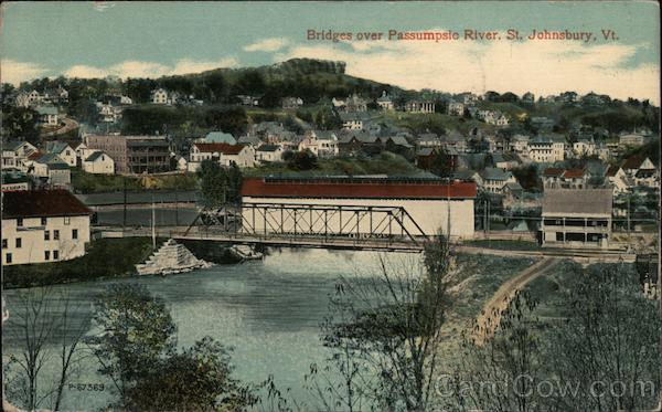 Bridges over Passumpsie River St. Johnsbury Vermont