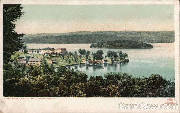 Prospect House and Lake Bomoseen Castleton Vermont