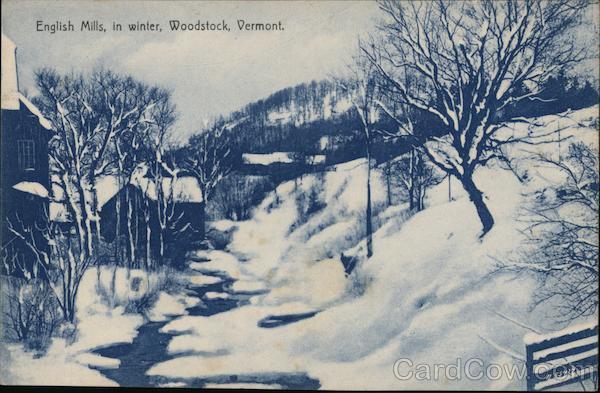 English Mills, in Winter Woodstock Vermont