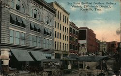 Gay Street South of Southern Railway Viaduct (Wholesale District) Postcard