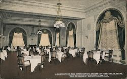 "A Portion of the Main Dining Room on First Mezzanine, ""The Tutwiler"""