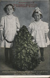 Two Girls and a Head of Methow Valley Lettuce