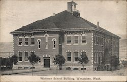 Whitman School Building Postcard