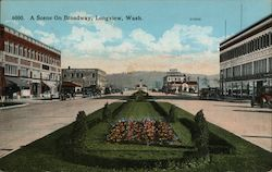 A Scene on Broadway Postcard