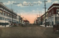 Wenatchee Ave., Looking South from 1st St. Postcard