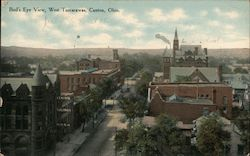 Bird's Eye View, West Tuscarawas Postcard