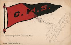 Coshocton High School Pennant Postcard