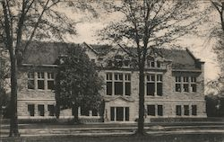 Carnegie Library, Oberlin College Postcard