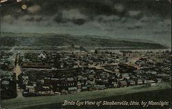 Bird's Eye View of Steubenville by Moonlight
