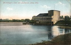 McCullough's Lake and Auditorium Postcard
