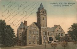 University Hall, Ohio Wesleyan University Postcard