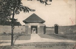 New Entrance Gate to the Ohio Western University Athletic Field Postcard