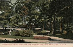 Pennsylvania Station, Silver Lake Park, Near Akron Postcard