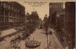 "Fifth St., looking east from Vine, ""The Fountain"""