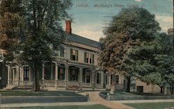 President William McKinley's Home Postcard