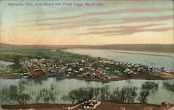 View from Mound Hill, Flood Stage, March 1907 Postcard