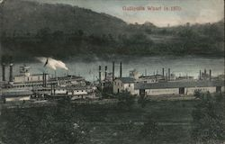 Gallipolis Wharf in 1870 Postcard