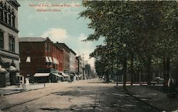 Second Avenue Looking East Postcard