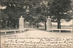 Entrance to Campus, Western College for Women