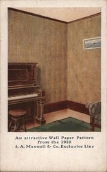 S.A. Maxwell & Company Wall Paper Postcard
