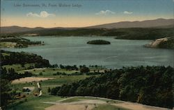 View From Wallave Ledge Postcard