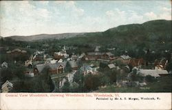 General View Woodstock, Showing Woodstock Inn Postcard