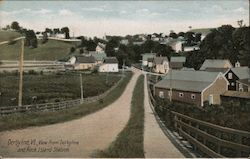 View from Derbyline and Rock Island Station Postcard