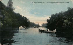 Canoeing on Passumpsic River