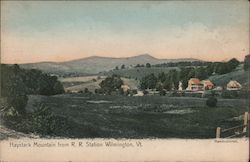 Haystack Mountain from R.R. Station Postcard