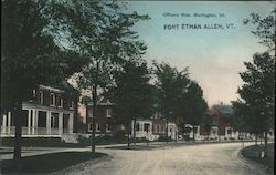 Officers Row Postcard