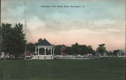 Grounds at Fort Ethan Allen Postcard