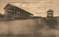 The Track, Showing Grand and Indges Stands, Looking North, Vermont State Fair