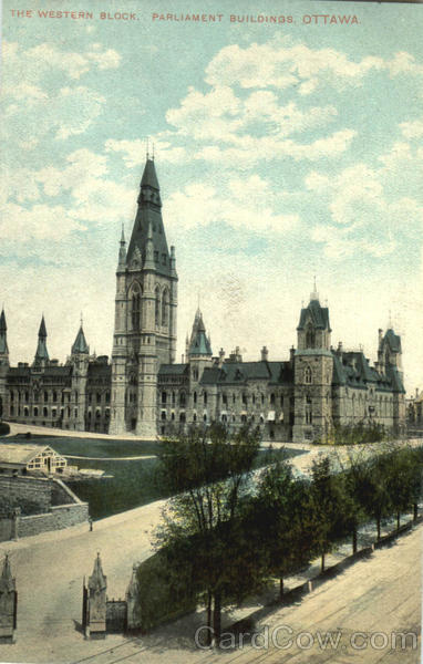 The Western Block Parliament Building Ottawa Ontario Canada
