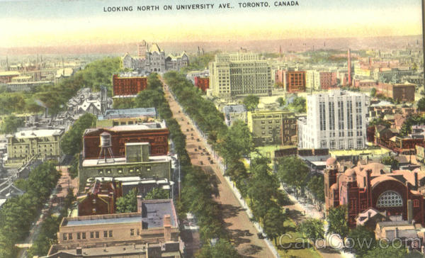 Looking North On University Ave Toronto Ontario Canada
