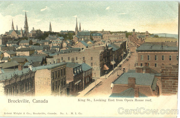King Street Looking East From Opera House Roof Brockville Ontario Canada