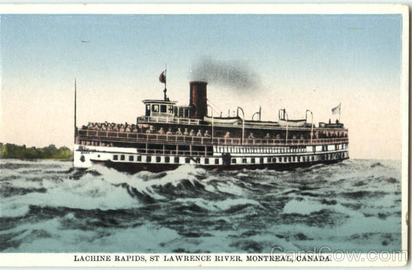 Lachine Rapids St Lawrence River Montreal Canada Quebec