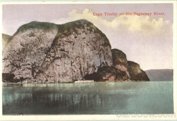 Cape Trinity On The Saguenay River Canada Quebec